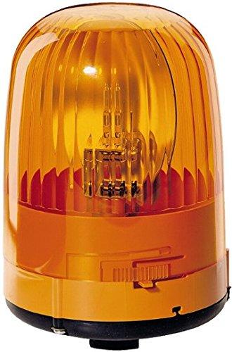 HELLA 2RL 007 553-001 Rundumkennleuchte - KL Junior - Halogen - H1 - 12V - Lichtscheibenfarbe: gelb - Rohrstutzen