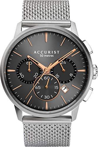 Accurist Watches Reloj Analógico para Hombre de Japanese Quartz con Correa en Stainless Steel 7315