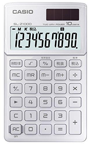 カシオ デザイン電卓 手帳タイプ 10桁 SL-Z1000WE-N リッチホワイト