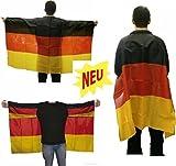 HAAC Umhang Flaggenumhang in Deutschlandsfarben Deutschland 150 cm x 90 cm Fußball 2014