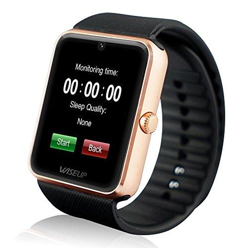 Wiseup GT08 Bluetooth smartwatches mobiele telefoons met simkaart GSM GPRS voor Android Samsung HTC