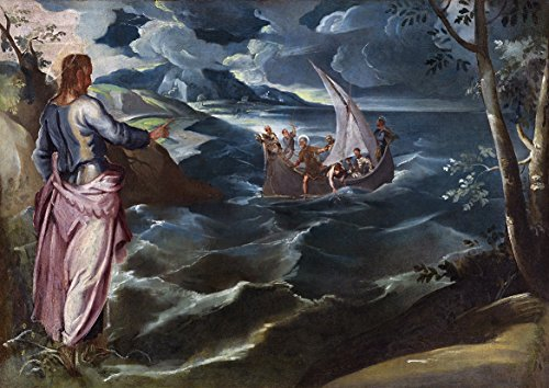 Jacopo Tintoretto: Christ at The Sea of Galilee. Fine Art Print/Poster (84.1cm x 59.4cm)