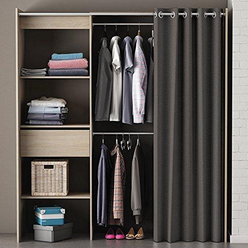 Kleiderschrank Cori mit Vorhang Sonoma Eiche B 169 cm Schrank Wäscheschrank Kinder Jugend Schlafzimmer Stoffschrank Vorhangschrank