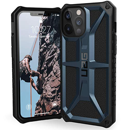 URBAN ARMOR GEAR UAG Designed for iPhone 12 Pro Max Case [6.7-inch Screen] Rugged Lightweight Slim Shockproof Premium Monarch Protective Cover, Mallard