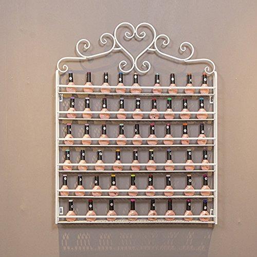 Zerone Expositor para Uñas, Estante de Pared Polaco de 6 Capas Organizador de Metal Soporte de Exhibición de Esmalte de Uñas (Blanco)