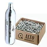 BORNER - Bombonas de CO2 de Alto Rendimiento | Capsulas de Aire comprimido con Cargas de 12 gr para Armas de Airsoft o Pistolas de balines y perdigones (50 bombonas)