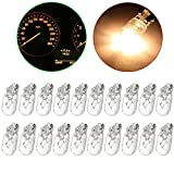 cciyu 20 Pack 194/168/T10 Warm White 12V 5W Side Marker Clearance Light Halogen Bulb