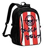 Jiu Jitsu Skull with Black Belt Unisex Travel Bag Backpack
