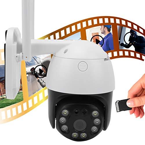 Cámara Vigilancia WiFi PTZ Cámara Cámara HD 3MP 2 Way Detección De Radio Detección De Movimiento Vista De Noche IP66 Impermeable 100-240V