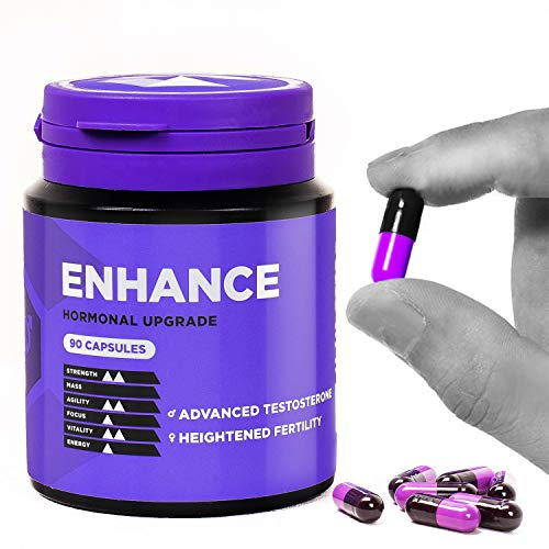 Enhance Natural Test Booster Tablets, Improve Athletic Performance, Intimacy Function, Immune Response and Support Mood, 90 Pills for Men and Women