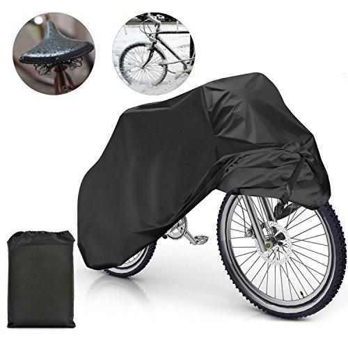 Samione fundas para bicicletas Impermeable Anti Cubierta para Bici cubre-bicicleta Protector contra Lluvia y Polvo para Bicicleta Motocicleta 190x65x98CM - Negro
