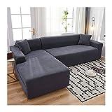 JHLD Fundas para Sillones Sofá En Forma De L, Alta Elasticidad Cubre Sofa Lavable Moda Protector para Sofás para Sala De Estar Mascota-J-Large + Large
