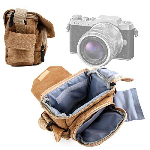 DURAGADGET Bolso Marrón/Canvas para Cámara Lumix GF8   DMC-FZ300   Nikon Coolpix B500   B700 Bridge   Pentax K-1 SLR