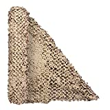 LOOGU Military Camo Netting, Fire Retardant Hunting Blind Material for Deer Tree Stand Sunshade Party Decorations - 5 x 6.6 Feet