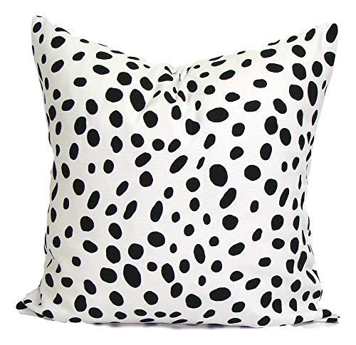 Toll2452 Animal Print PILLOW18x18 inch Decorative Pillow Cover Housewares Home DecorBlack Pillow Black Throw Pillow Cushion Dalmation AnimalCm