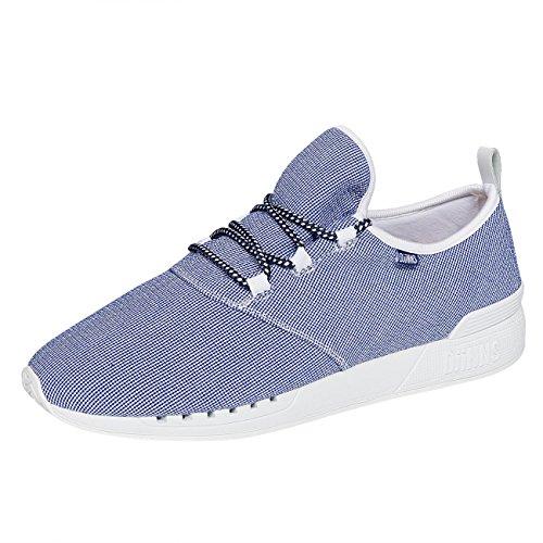 Djinns Schuhe MocLau Sucker Piquee Unisex Shoes Blue White 40
