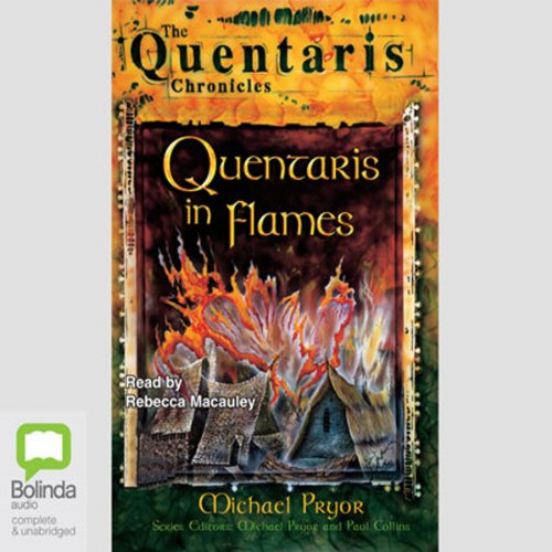 Quentaris in Flames audiobook cover art