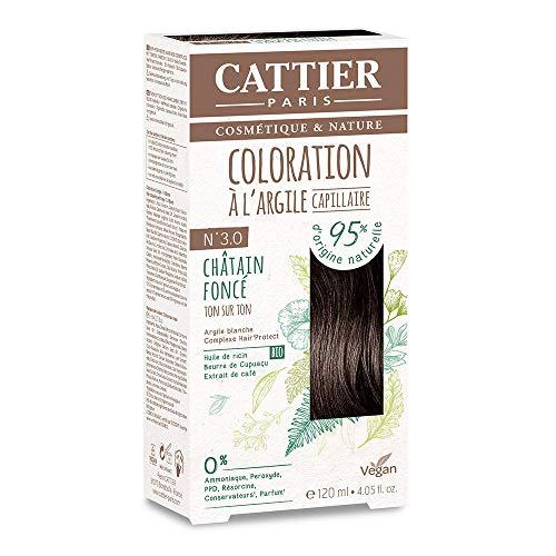Cattier Kit Coloration Capillaire à l'Argile - N°3.0 Châtain Foncé