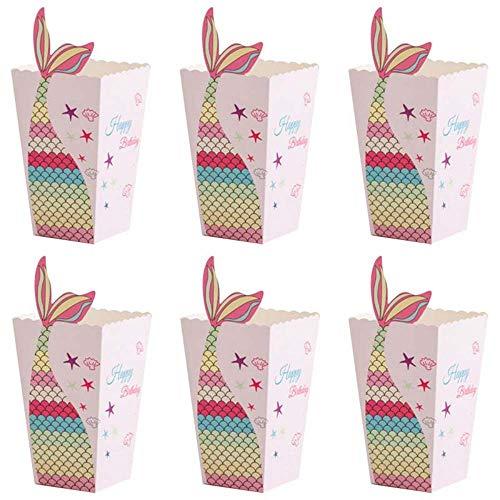 Heatigo Scatole per popcorn, 24 pezzi per popcorn, sacchetti per caramelle, per feste di compleanno per bambini