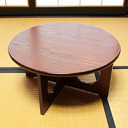 卓袱台 50cm 木製 漆器 漆塗り ちゃぶ台 丸テーブル 座卓