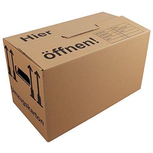 10x Umzugskartons Umzugskisten mit Schmetterlingsboden MyPackBox (Profi) STABIL Umzug Karton Kisten Verpackung Bücher Schachtel 525 x 310 x 335 (MyFly)