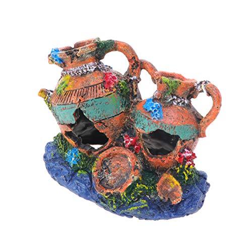 Balacoo Vase Aquariendekorationen - exotische Umgebungen chinesische Vase Aquarium Ornament Fisch Versteck Aquarium Zubehör Dekorationen