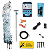 Starkline Electric Poultry Netting Kit- AC Energizer (White/Blue Poultry Netting, 48
