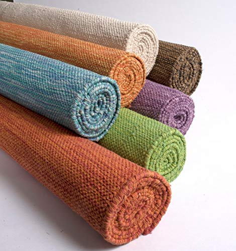 Yogasana Yoga Mat   Air (Natural) Thick Organic Cotton, Home Workout...