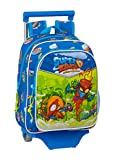 Safta Mochila Infantil de Superzings Serie 5 con Carro 705 , 270 x 100 x 330 mm, Color Azul