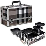 Ver Beauty 6-Tiers Accordion Trays Professional Cosmetic Makeup Train Case Organizer Travel