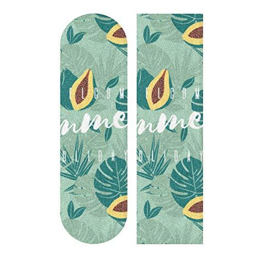 MNSRUU Welcome Summer Skateboard Grip Tape Sheet Scooter Deck carta sabbia 22,9 x 33'