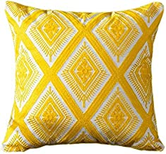 Euphoney Cushion Cover Embroidery Yellow (Yellow Diamond)