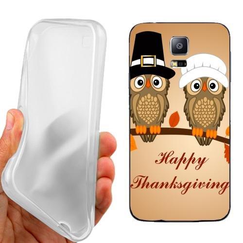 Custodia Cover Case Happy Owl per Samsung Galaxy S5 Neo
