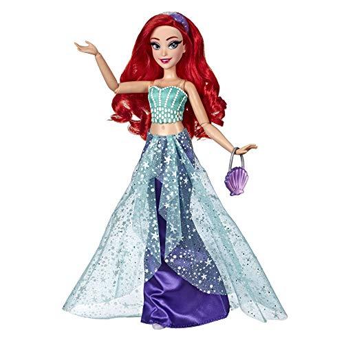 Disney Prinzessin Style Serie, Arielle Puppe in modernem Look mit Tasche und Schuhen