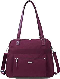 New Classic Overnight Expandable Laptop Tote with RFID Phone Wristlet Eggplant One Size
