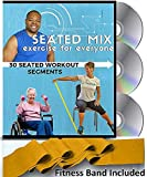 SEATED MIX CHAIR EXERCISE FOR SENIORS- 3 DVDs + 30 Exercise Segments + Resistance Band. Most...