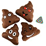 Shop Zoombie Emoji Poop Pillow 5' Plush Assorted and 1 Vortex Eraser - 12 Pack - Party Favors, Goody Bags, Prizes, Gag Gifts