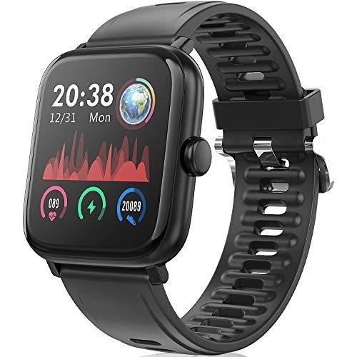 TagoBee Smartwatch Orologio Fitness Uomo Donna, TB16 Fitness Tracker Bluetooth Smart Watch con Impermeabile IP67 Cardiofrequenzimetro da Polso Orologio Sportivo Activity Tracker per Android iOS