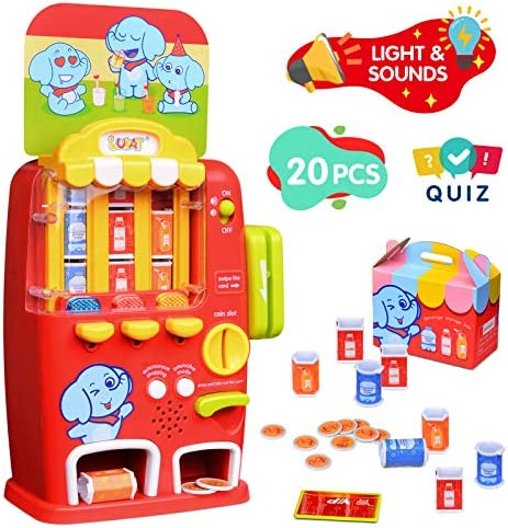 LUKAT Vending Machine Toddler Toys Pretend Play Electronic Educational Toys for 2 3 4 5 Years product image