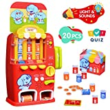 LUKAT Vending Machine Toddler Toys, Pretend Play Electronic Educational Toys for 2 3 4 5 Years Old Boys Girls, Toddler Interactive Learning Playset, Fine Motor Skill Toys for Kids Learning Toys Gift