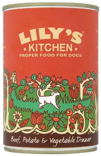 Lily\'s Kitchen - Cena de carne de res, patatas y verduras para perros, 400 g cada lata (paquete de 3)