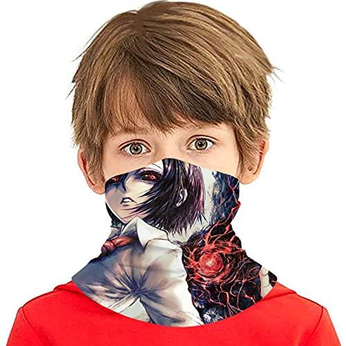 LAOLUCKY Tokyo Ghoul Touka - Polaina para cuello con 6 filtros de protección UV, bufanda de seda de hielo, a prueba de viento, a prueba de polvo, para adolescentes y niñas