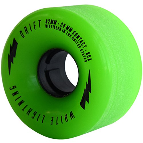 Moonshine Drift Longboard Wheels - 62mm - 80a - Green by Moonshine