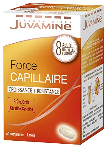 Juvamine Force Capillaire/Croissance/Résistance à la Kératine 60 Comprimés