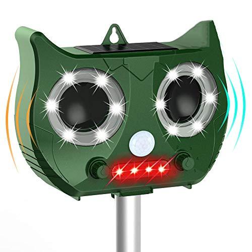 CIVIKY Cat Repellent, Répulsif Solaire à ultrasons pour Chiens, Chats, Renards, Souris, Oiseaux, mouffettes Garden Yard Field Farm-Vert