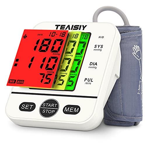Misuratore di Pressione Sanguigna da Braccio, Sfigmomanometro Digitale Elettronico Automatica con Rilevazione dell'aritmia, 2*99 Letture, per Circonferenze Braccio di 22-40cm, Grande Schermo LCD