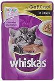 Whiskas gato / comida húmeda Junior para gatos jóvenes, 24 bolsitas (24 x 100 g)