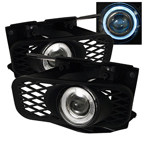 For 99-04 Ford F150 Expedition Black Bezel Halo Projector Fog