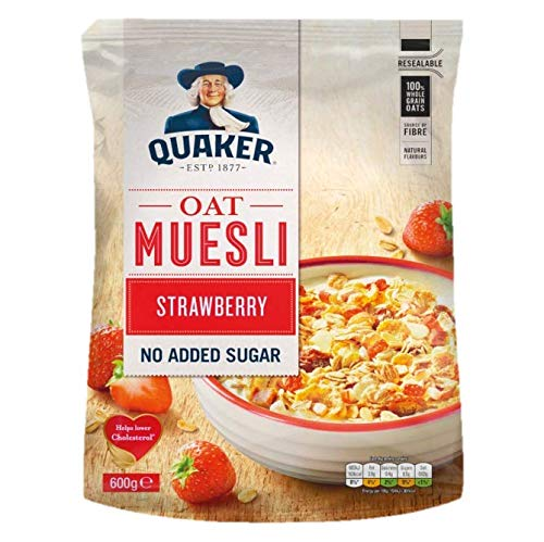 Quaker muesli tradicional con fresa - 600 gr