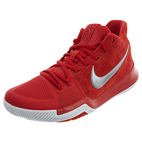 Nike Kyrie 3 Mens Shoes University Red/Wolf Grey 852395-601 (8 D(M) US)